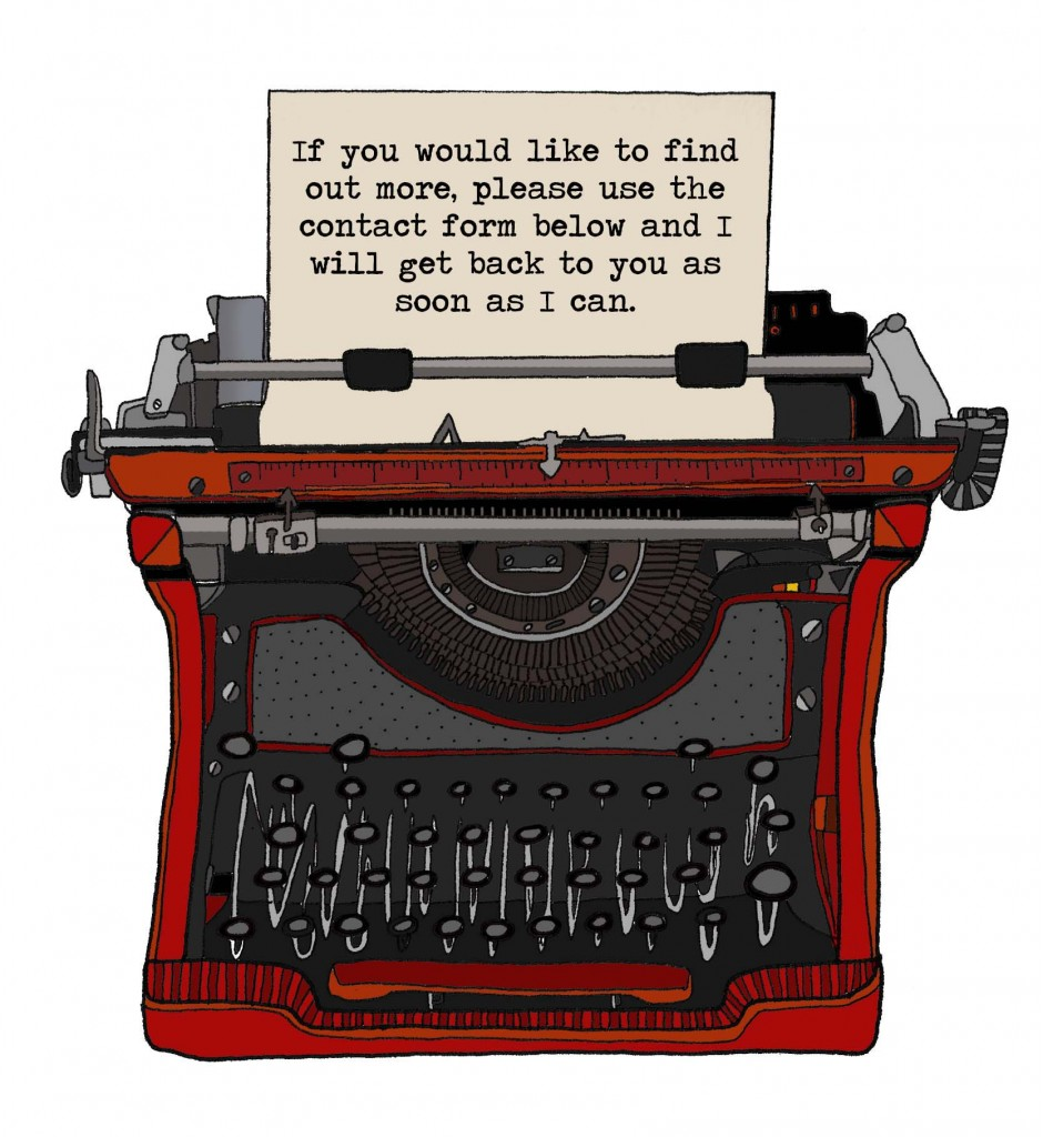Typewriter: If you would like to find out more, use the contact form below.