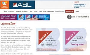 Screenshot of BASL page